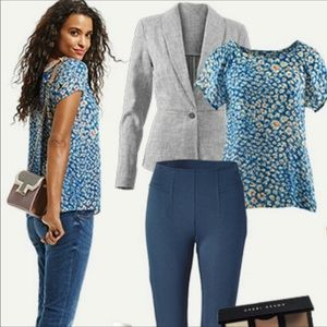 CAbi 299 Split Back with Button Detail Blouse